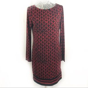 Black red Michael Kors graphic print dress Medium